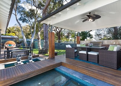 Custom New Home Builder Outdoor Area